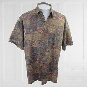 Tori Richard Men Hawaiian camp shirt XL slim vtgg